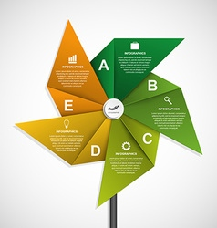 Abstract options infographics design template in vector