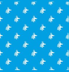 Ancient egyptian god anubis pattern seamless blue vector
