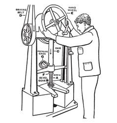 Bevel gear vintage vector