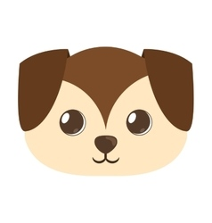 Cartoon cute puppy dog big ears vector