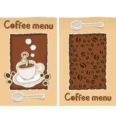 coffee cut vector image vector image