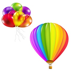 Color Balloons Set vector image vector image