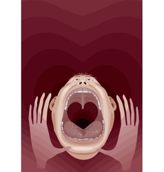 Cry of love vector
