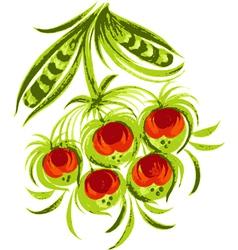 decorative berries vector image vector image