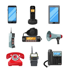 different telephones smartphones and other vector image vector image
