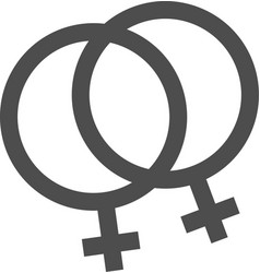 gay pride her and her symbol vector image