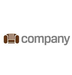 Home sofa logo vector