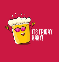 its friday baby concept with vector image