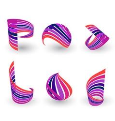 logo spiral vector image vector image