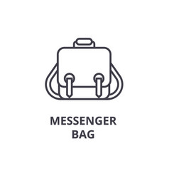 messenger bag line icon outline sign linear vector image vector image
