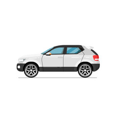 Modern suv car isolated icon vector