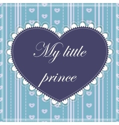 My little prince card vector
