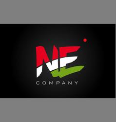 Ne n e alphabet letter logo combination icon vector