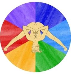 Nude yoga vector image vector image