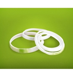 Onion rings vector image vector image
