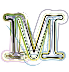 Organic Font letter m vector image