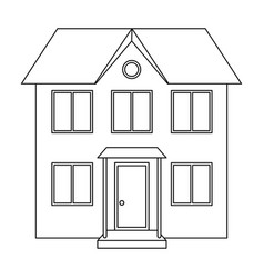 Private cottagerealtor single icon in outline vector