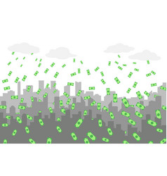 random grey city skyline on light background with vector image vector image
