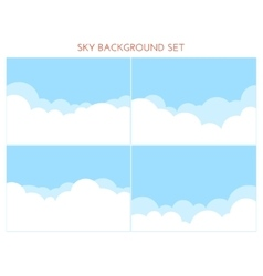 Set of Sky Background vector image vector image