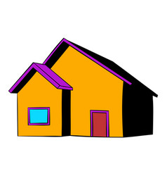 Small cottage icon icon cartoon vector