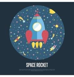 Space rocket conceptual web banner vector