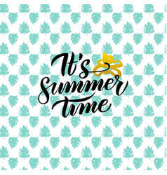 Summer time handwritten design vector