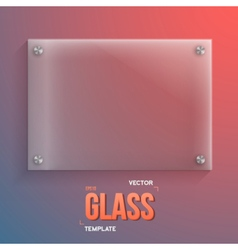 Transparent glass realistic glass vector