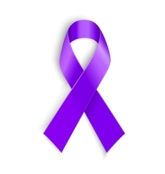 Violet ribbon as symbol of Hodgkin Disease vector image