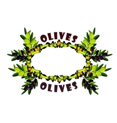 Wreath of olive branches vector