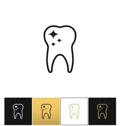 Tooth care and dental cleaning icon vector