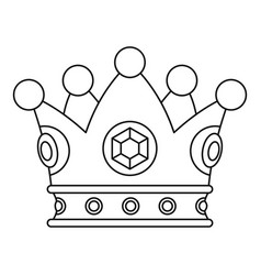 Precious crown icon outline style vector