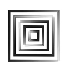 Abstract square logo with chalk lines vector