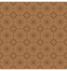 Brown geometric seamless pattern vector
