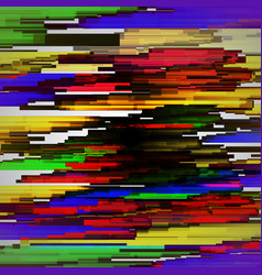 Glitched horizontal stripes colorful night vector