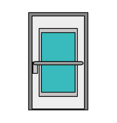room door isolated icon vector image