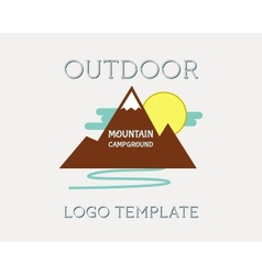 Mountain campsite campground outdoor adventure and vector