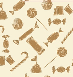 Vintage candy background vector