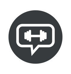 Round barbell dialog icon vector