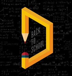 Back to school creative pencil vector image
