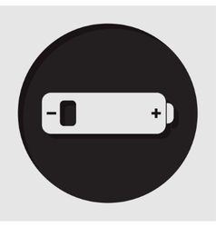 Information icon - white battery low vector