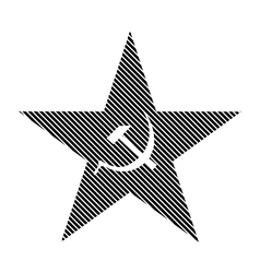 Communism star sign vector