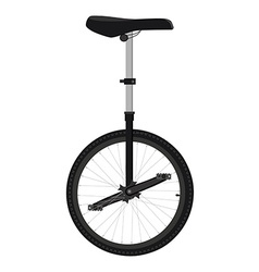 One wheel bicycle vector