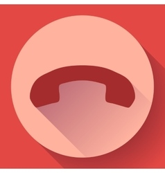 Phone call end icon vector