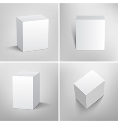 Set of blank white packaging boxes for design vector