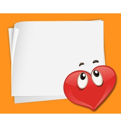 Love note background vector