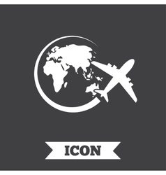 Airplane sign icon Travel trip symbol vector image