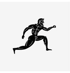 Ancient greek athletic runner vector image