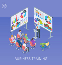 banner on theme business training vector image vector image