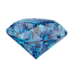 Blue diamond isolated on white background vector