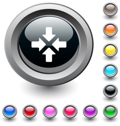 Click here round button vector